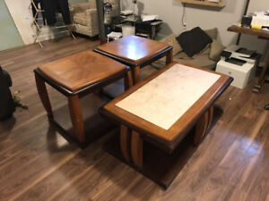 COFFEE AND SIDE TABLES - REAL WOOD!