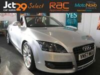 2007 57 AUDI TT 2.0 TFSI 2D AUTO 200 BHP 9 STAMPS 7 MAIN DEALER RED LEATHER
