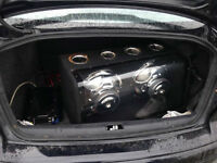12'' subs in ported box with amp