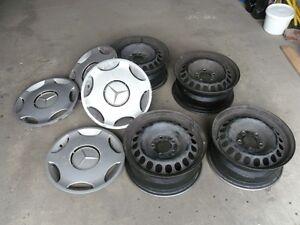 Set of 4 Rims with Wheelcaps for Mercedes Edmonton Edmonton Area image 1