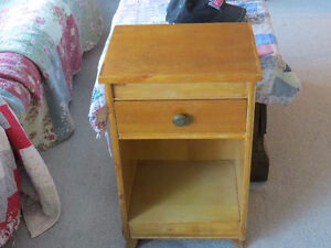 """Solid Oak Bedside Table """"HFX Hoarders and Collectors"""""""