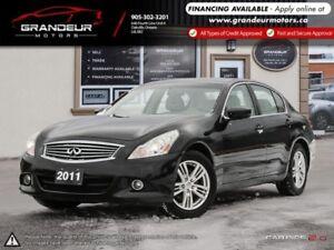 2011 INFINITI G37 Sedan Luxury |ONLY 143K KM|CERTIFIED|WARRANTY