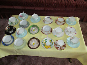 Assortment China cups and saucers