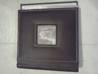 Faux leather photo album and picture frame