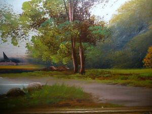 "Original Oil Painting ""Early Summer Path"" Vintage Early 1900's Stratford Kitchener Area image 7"