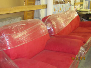 CONTEMPORARY 2 PC  RED SOFA
