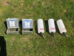 Small animal feeder and water bottles