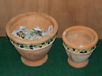 2 matching french flower pots