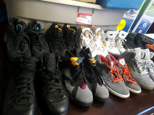 Air Jordan's and Lebron's