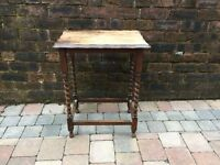 Old Dark Oak Barley Twist Legs Hall/Window/Side Table - Can Deliver
