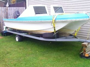 for sale a 17 ft fiber glass boat and a brand new trailer St. John's Newfoundland image 3