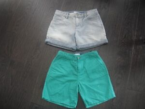 2 Pair Of Girls Old Navy Shorts Size 14