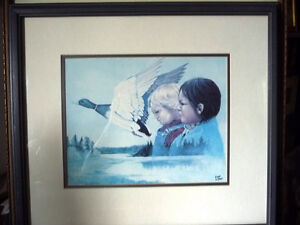 "Metis Wilderness Lithograph by Eddie Le Page ""Blood Brothers"" Stratford Kitchener Area image 1"