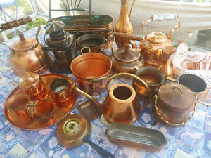 Various copper items