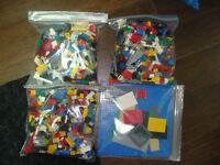 4 BAGS of LEGO - MISC PIECES - WASHED & SANITIZED