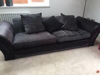 Black and Grey three seater sofa
