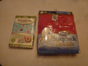 Summer SwaddleMe and Halo Sleep Sack Swaddle - Brand New