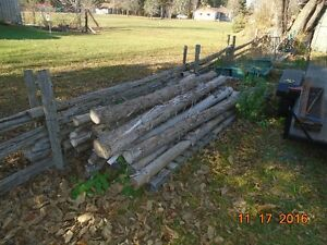 POSTS AND RAILS FOR FENCE