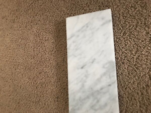 36 Inch Solid White Marble Vanity Backsplash