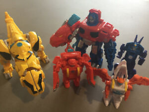 Ensemble de 5 jouets Transformers Rescue Bots