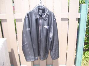 Mens New England Patriots leather jacket/coat [L]