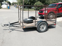 5x8 Utility Trailer with Ramp & 3500-lbs axle  - $1700 OBO