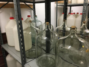 CARBOYS, glass and plastic, 20 and 23 liter size