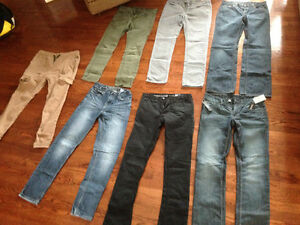 7 pairs of jeans and pants for youth or young adult $10 each