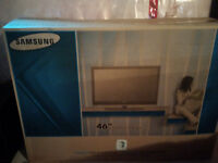 """Samsung home entertainment center: LCD TV 46"""" and stereo system"""