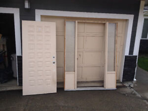 used 36 inch front door with 3/4 side lights