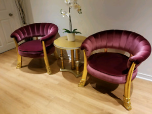 Accent Chairs with Table