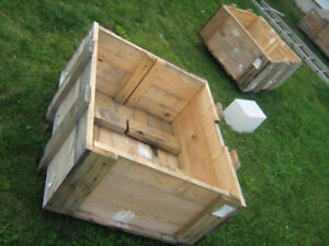 Solid Wood Crate Ready for your DIY project, no lid