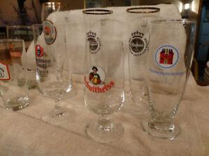European Beer glasses - Set of 10