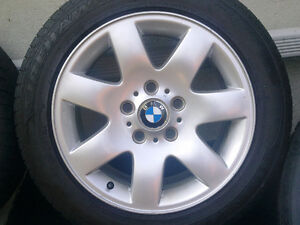 BMW E46 style 45 Mags with summer tires 205/55R16 West Island Greater Montréal image 3