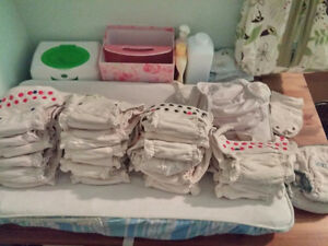16 one size fits all Organic Bamboo Cloth Diapers + 4 covers
