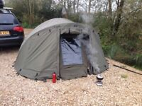 Trakker trident as 1 man bivvy with aqua overwrap