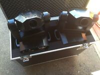 Pair of acme im5s moving heads / disco lights