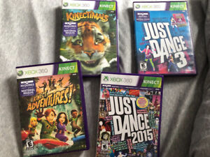Xbox 360 Kinect games; Kinectimals, Just Dance 3 and 2015