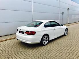 2010 10 reg BMW 325d SE Coupe + WHITE + RED LEATHER + FACELIFT MODEL