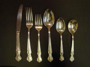Silver Plate flatware set..