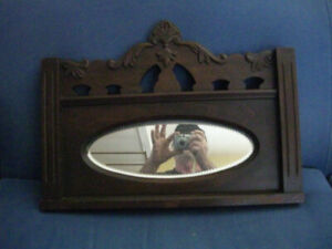 Walnut Mirror Fluted