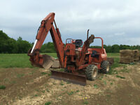 Ditch Witch Trencher and Backhoe