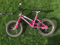 "Girls 16"" Kuwahara bike with towbar"