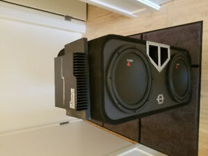 "12"" focal subs and sub box"