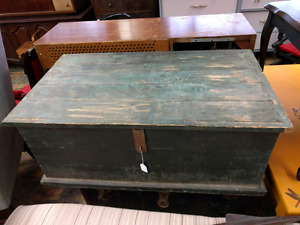 Antique Wooden Tool Chest/Footlocker