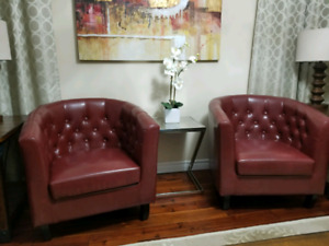 Tufted Tub Chairs