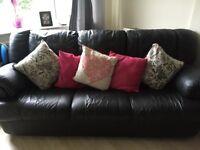 2&3 seater sofa black
