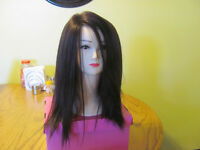 Brand New 100% Human Hair Dark Brown Wig $170.00