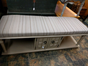 SALE!! Vintage Solid Wood Coffee Table Bench
