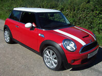 2007 07 Plate Mini 1.6 ( 175bhp ) ( Chili ) Cooper S , Red and white combo ,